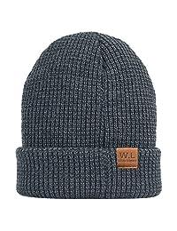 Knit Beanie Skull Hat,caps Men,- Soft Fleece Lined Slouchy Winter Cap by W.L …