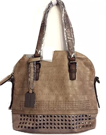 Emily & Noah Damen Tasche Cityshopper Handtasche Shopper 60330 Kunstleder  braun-taupe