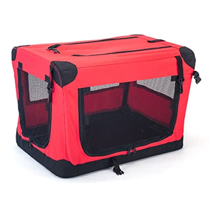 Jaula de tela plegable de viaje para perros medianos (60 cm. de ...
