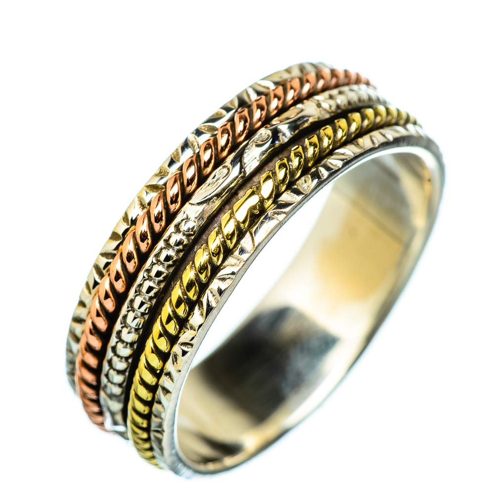 Ana Silver Co Meditation Spinner Ring Size 11.75 925 Sterling Silver Bohemian Vintage RING938451 - Handmade Jewelry