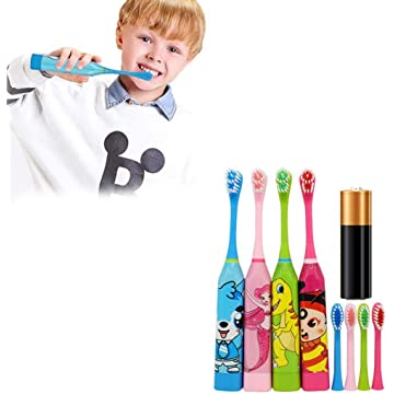 Children Cute Cartoon Electric Toothbrush Soft Oral Cleaning Toothbrush