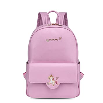 7ca2038a4c Unicorn PU Leather Diaper Bag for Baby Care, COLORLAND Fashion  Multi-Function Toddler Nappy