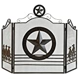 Koehler 12569 35 Inch Brown Lone Star Fireplace Screen