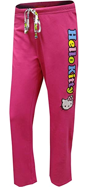 454cb86a0 Hello Kitty on a Rainbow Logo French Terry Capri Lounge Pant for women  (Large)