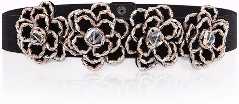 Dress。 A Sweater Waist Belt。 Waist Belt Flower。 Rhinestone。 Decoration NSSBZZ Birthday Gifts Female Girdle Beads Manual Elastic Force。 Its Tight