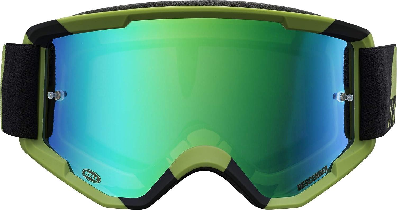 Bell Descender MTB Goggles (Crossbones Matte Green/Black (2020), Revo Green Mirror)