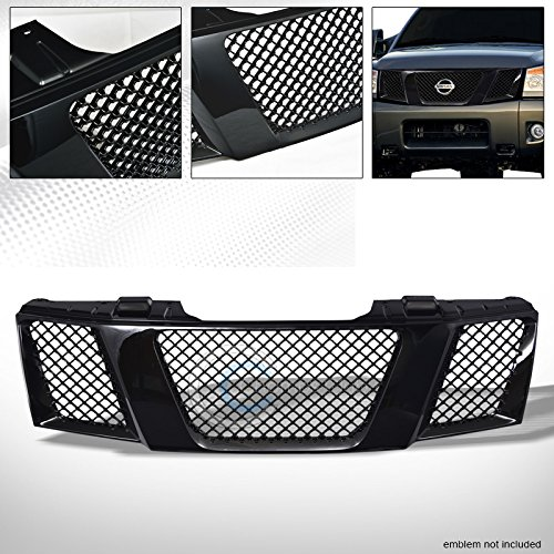 Velocity Concepts Black Sport Mesh Front Hood Bumper Grill Grille Guard Abs For 04-07 Titan/Armada (Hood Face Velocity)