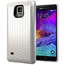 Samsung Galaxy Note 4 Extended Battery Case. Hyperion Samsung Galaxy Note 4 Extended Battery HoneyComb TPU Case / Cover (Fits Hyperion 8000mAh Extended Battery)) [2 Year No Hassle Warranty] (CASE ONLY. Does not include battery) **Hyperion Retail Packaging** - WHITE