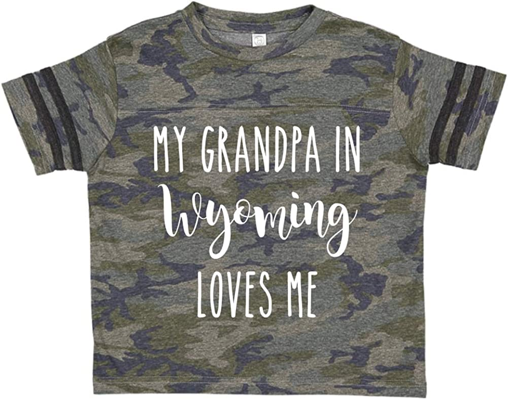 My Grandpa in Wyoming Loves Me Toddler//Kids Sporty T-Shirt