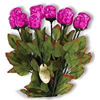"Long Stem 19"" Milk Chocolate Roses Bouquet of 6 - Pink"