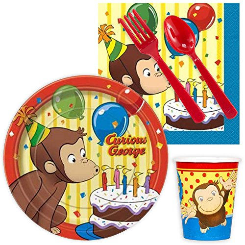 BirthdayExpress Curious George Party Supplies Snack Pack for -