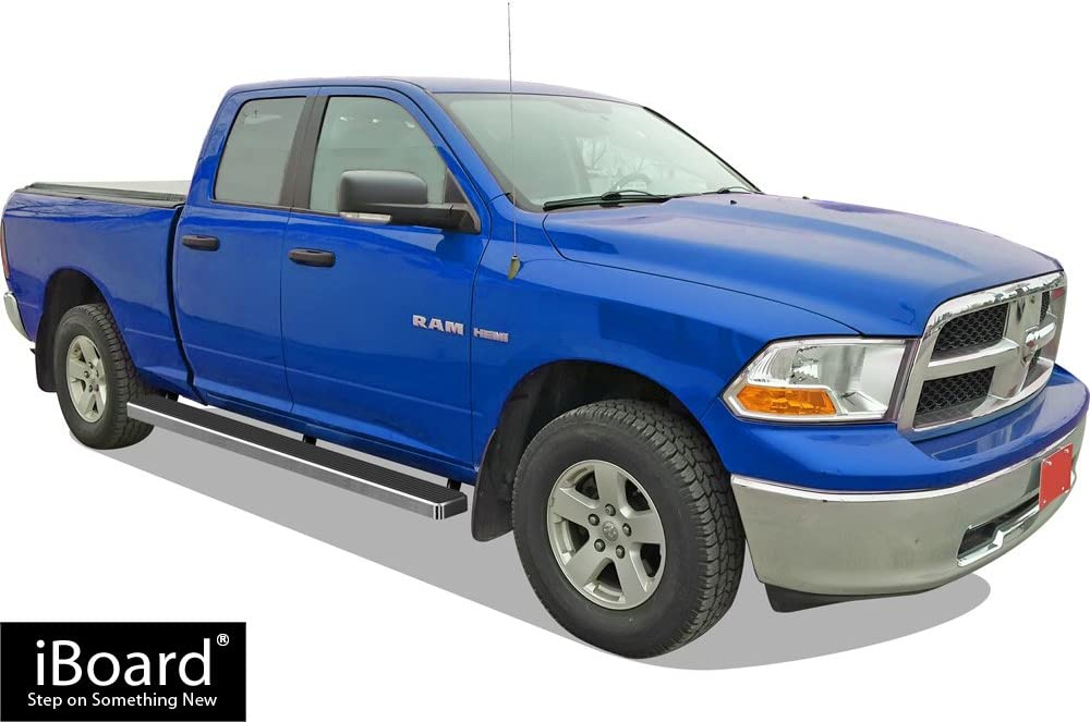 APS 5in Wheel-to-Wheel Nerf Bars Custom Fit 09-18 Ram 1500 Quad Cab 6.5ft Bed