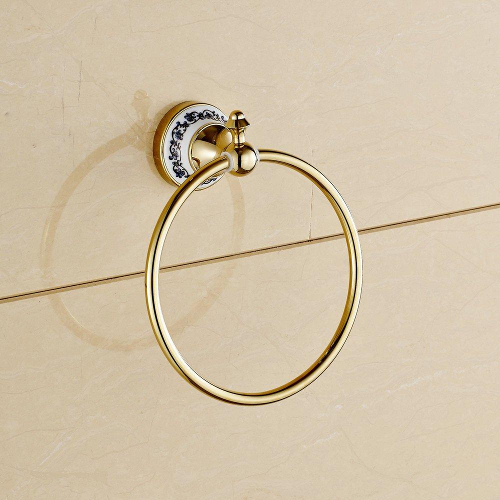 Beelee BL7902-G Gold poliert Handtuchhalter Doppeltuchstäbe zur Wandmontage 60cm- B018K0L780 Handtuchhalter & -stangen
