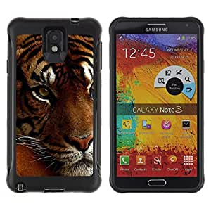 SHIMIN CAO@ Tired Sleepy Big Cat Orange Fur Tiger Rugged Hybrid Armor Slim Protection Case Cover Shell For Note 3 Case ,N9000 Leather Case ,Leather for Note 3 ,Case for Note 3 ,Note 3 case