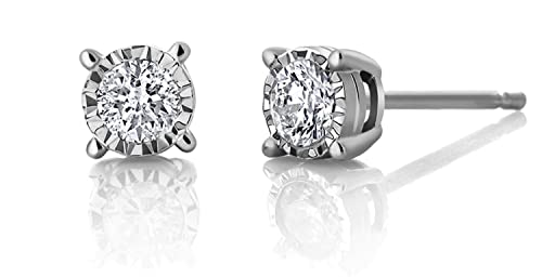 015ce6ce3 Image Unavailable. Image not available for. Color: Genuine 1/2 Carat  Natural Solitaire Round Cut Diamond 4 Prong Stud Post Back Earring