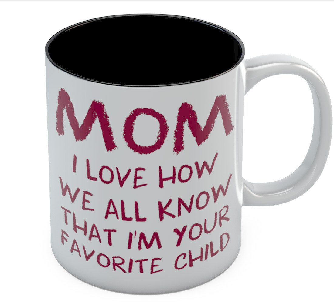 Mon's Best Coffee Mug - I'm Your Favorite Child The Perfect Mother's Day, Birthday Gift Idea from Son or Daughter - Great for Moms, Grandmas, Daughters, Sisters, In-laws Ceramic Tea Mug 11 Oz. Blue G0PMMh0gWWwP0Ww9ll6F