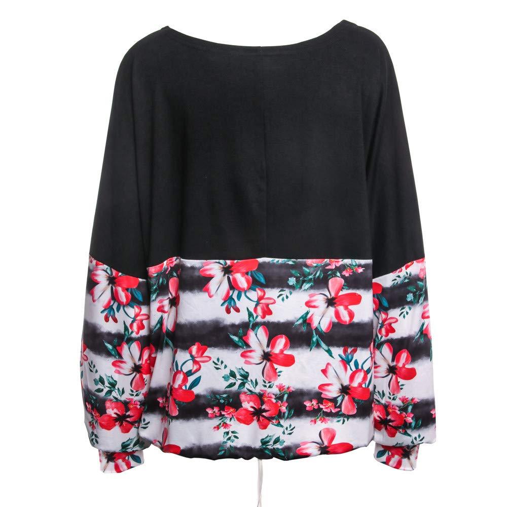 Blusa Mujer, BBestseller Otoño e Invierno Blusas para Mujer Camisas Mujer Collar de Imprimir Manga Larga Blusas Sudadera con Capucha Tops Camisetas Mujer: ...