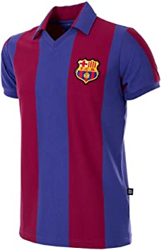 COPA Football - Camiseta Retro FC Barcelona 1980-1981 (S): Amazon ...