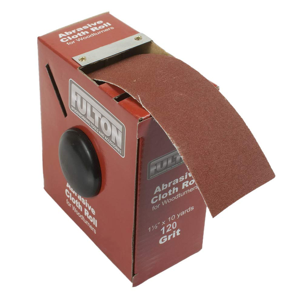 1-1/2'' x 10 Yard Abrasive Sanding Cloth Roll (120 Grit Roll) by Peachtree Woodworking Supply