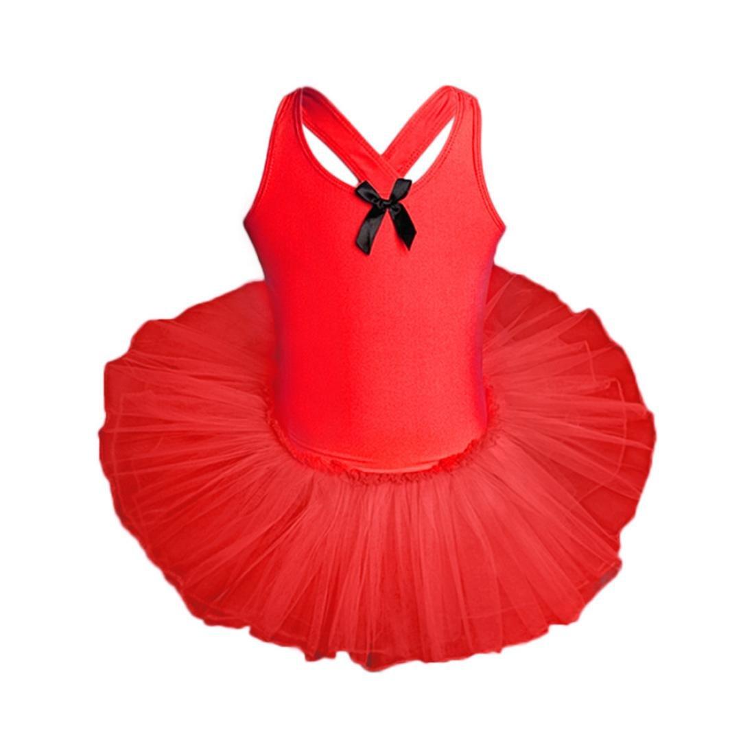 d286f5cad35d Amazon.com: Goodlock Toddler Kids Fashion Dress Baby Girls Gauze Leotards  Ballet Bodysuit Dancewear Dress Clothes Outfits: Clothing