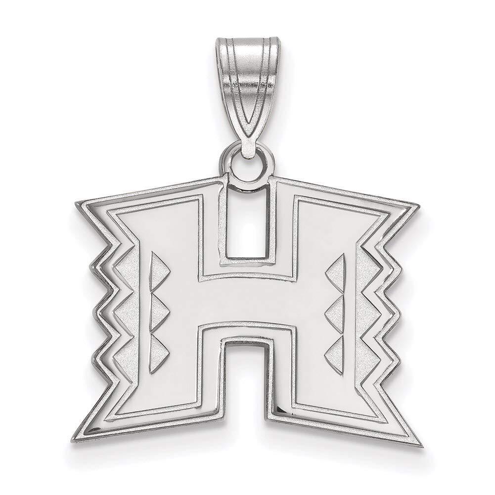 Lex /& Lu LogoArt Sterling Silver The University of Hawaii Medium Pendant