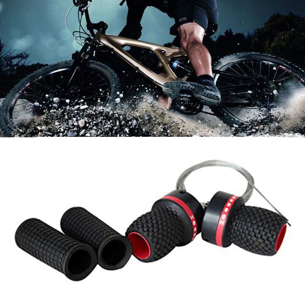 Universal Bike Bicycle Speed Shifter W// Handlebar Grips 7 Class 21 Speed Black