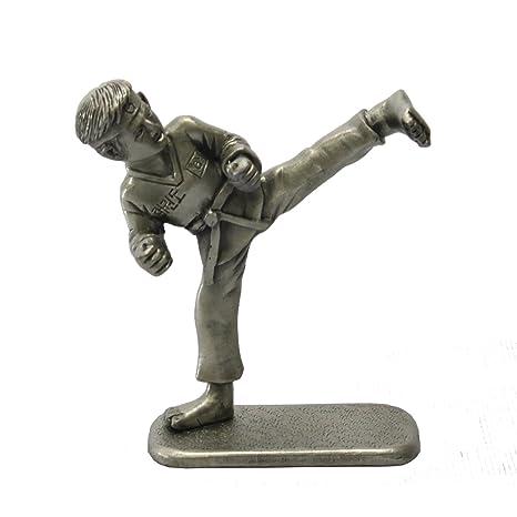 BKP Taekwondo Kick Collectible Figurines Korean Folk Martial Arts Pewter  Statue