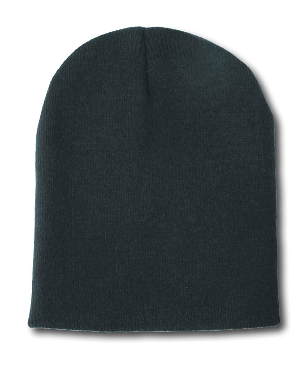 65e0878f8c5 DECKY BLACK SHORT WATCH CAP BEANIE SKI CAP CAPS HAT HATS UNCUFFED at ...