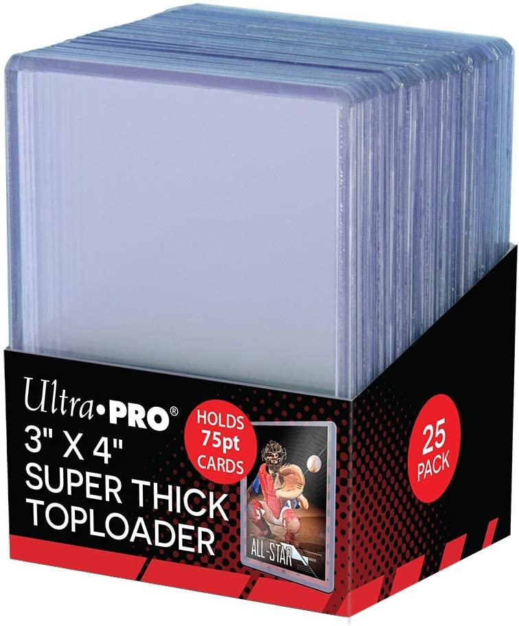Ultra Pro 3 x 4 Super Thick Baseball Card Toploaders, Holds 75pt Cards (Pack of 25) : Top Loaders : Sports & Outdoors