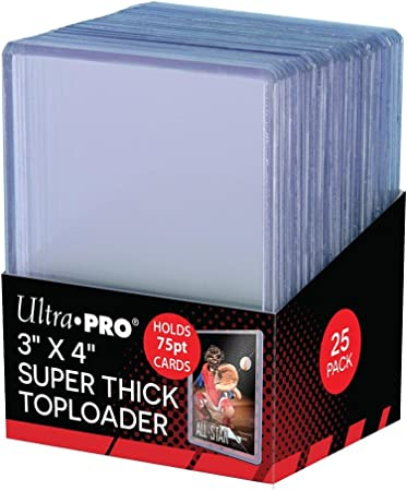 "Ultra Pro Regular 3/"" x 4/"" Top Loader 4 Packs of 25 Trading Card Holders NEW 100"