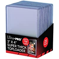 Ultra-Pro 3 x 4 Super Thick Baseball Card Toploaders (Pack of 25-75 Thickness)