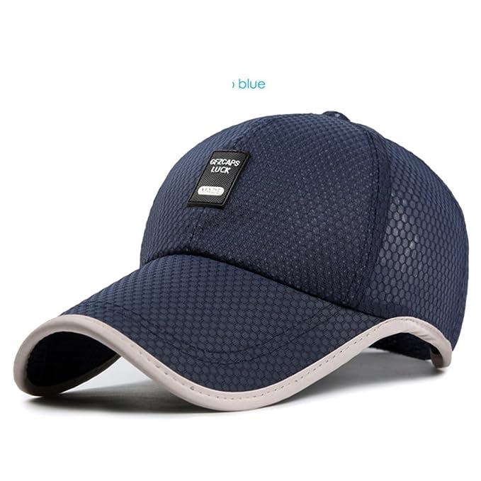 Sombrero Gorros para hombres verano al aire libre respirables  largo malla  sombrero de béisbol Versión coreana de la visera Sombrero para el sol-I ... 0b1c0c33b2c