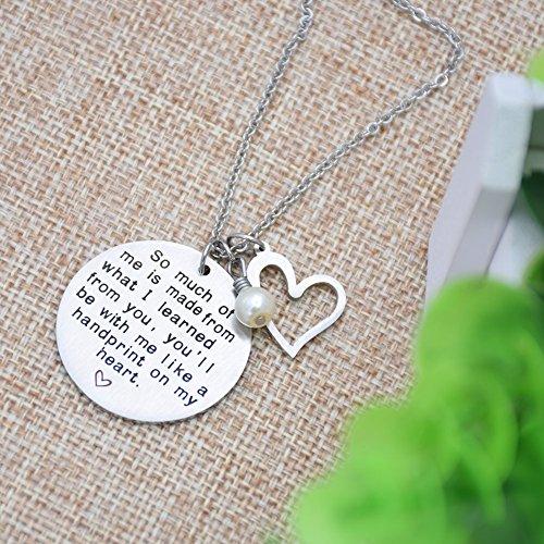 O.RIYA Graduation Gift, Teacher Necklace,Christmas Gifts for Teacher, Gift from Student, Teacher Gift, Personalized Teacher Jewelry by O.RIYA (Image #3)