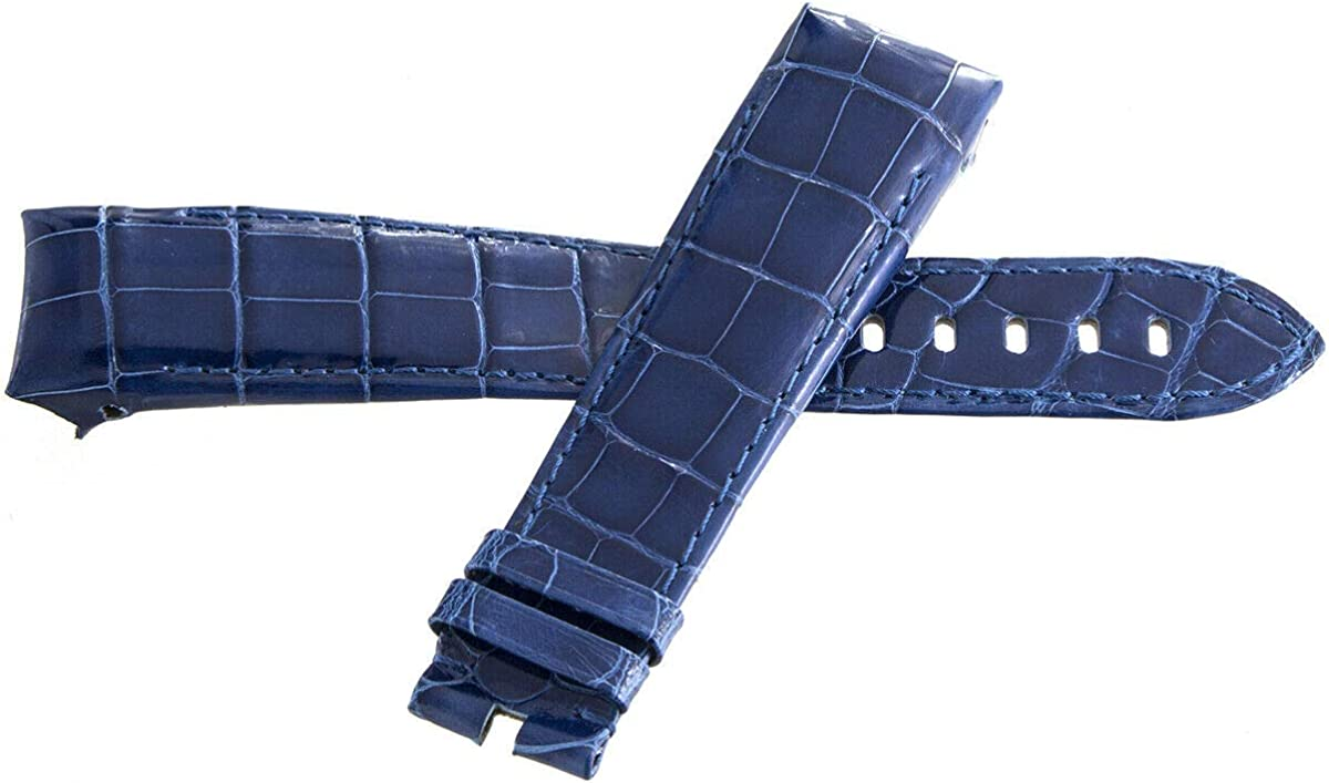 Genuine Graham Blue Leather Watch Band Strap 24mm x 20mm