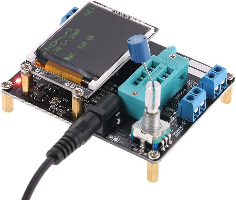 GM328A Testeur de Transistor Compteur Diodes Triode LCR PNP Capacit/é G/én/érateur de Signaux Carr/és PWM Roeam Transistors NPN de Testeur Multim/ètre ESR Num/érique