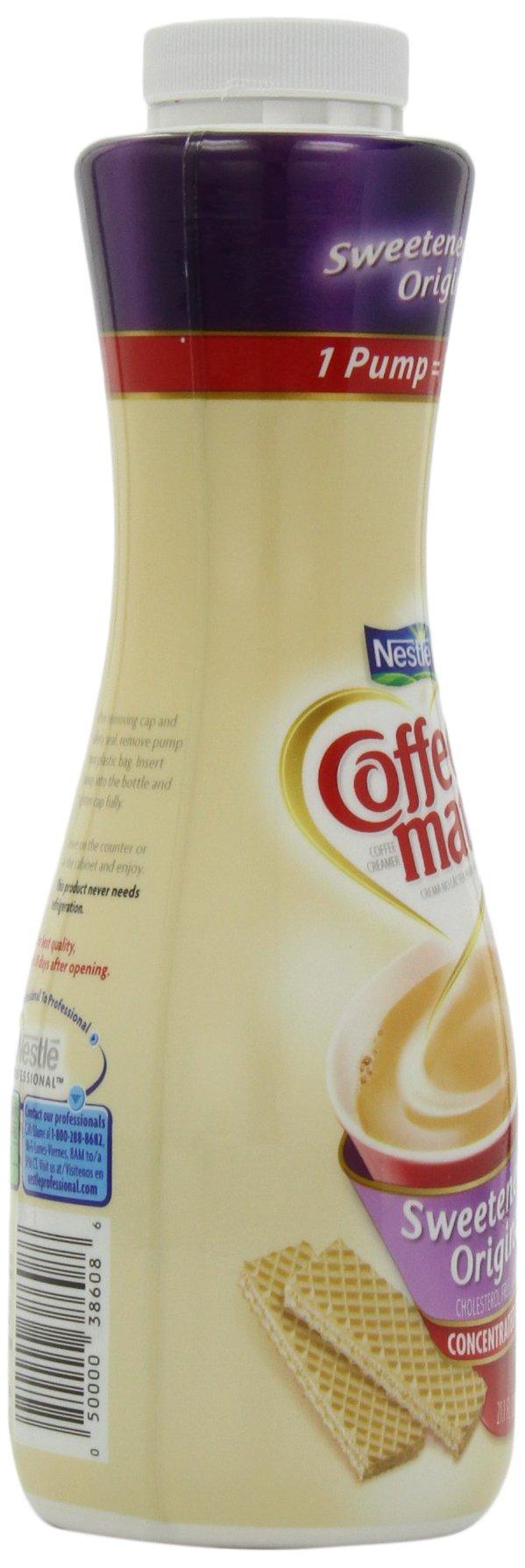 Nestle Coffee-mate Coffee Creamer, Sweetened Original, 21.1 oz liquid pump bottle by Nestle Coffee Mate (Image #8)