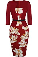 Babyonlinedress Babyonline Women Colorblock Wear To Work Business Party Bodycon One-Piece Dress