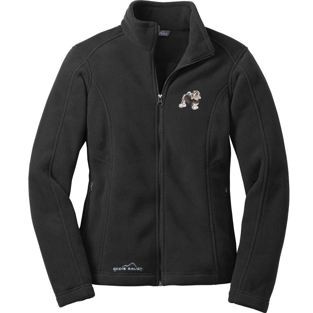 Cherrybrook Black Dog Breed Embroidered Ladies Eddie Bauer Fleece Jacket All Breeds