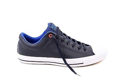 Converse Men s CTAS High Street OX Blue Obsidian White Skateboarding Shoes  153768C (13 1cec42b40