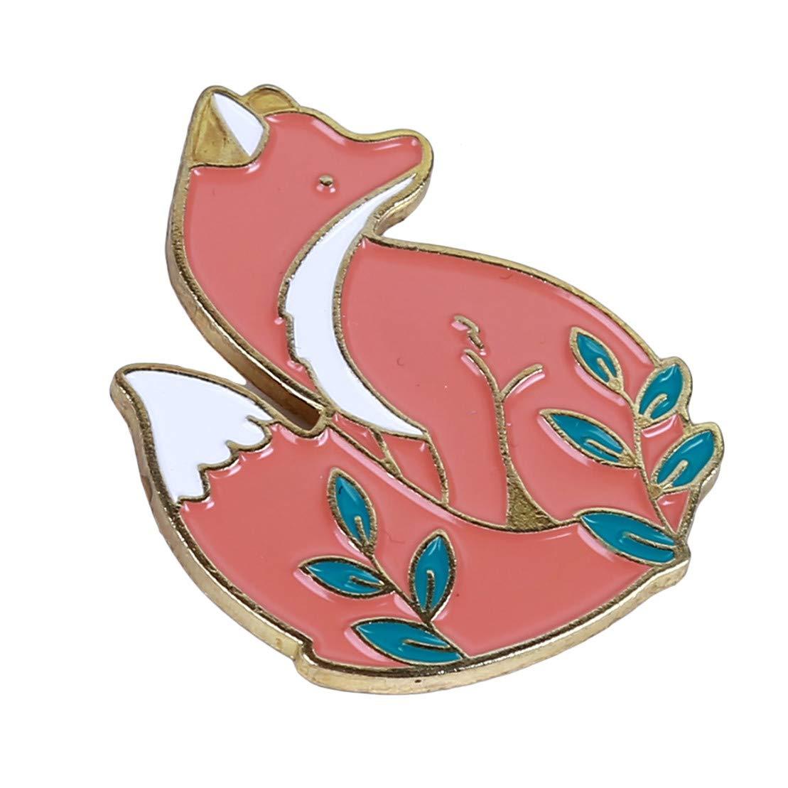 Argent Kissherely 1Pc Mignon Renard Enamel Pin Belle Animaux De Dessin Anim/é Broche Bijoux Cadeau Manteau Sacs Accessoires