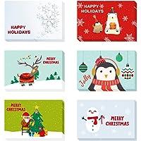 O-Kinee 24 Tarjetas de Navidad con Sobres
