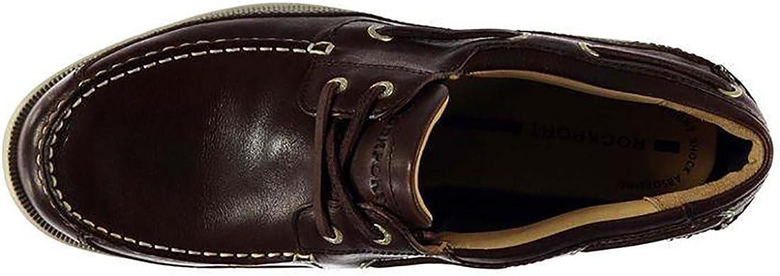 Rockport Mens JEFFREYSBAY Leather Closed Toe Boat Shoes