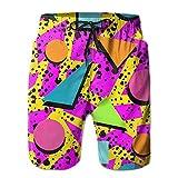 confirm vt 80s Memphis Men's Boy's Casual Quick-Drying Beach Pant Swim Surf Shorts