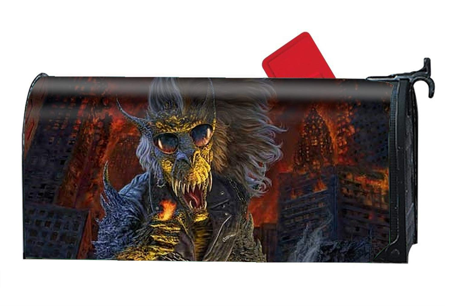 FunnyLife Seasonal Magnetic Dark Creature Mailbox Cover Anti-Crease Package