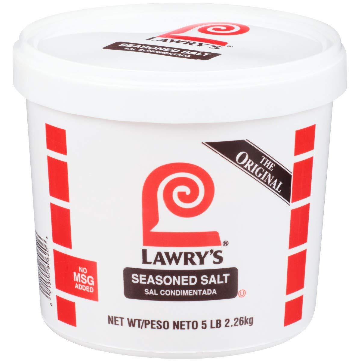 Lawrys Seasoned Salt - 5 lb. tub, 2 per case by McCormick