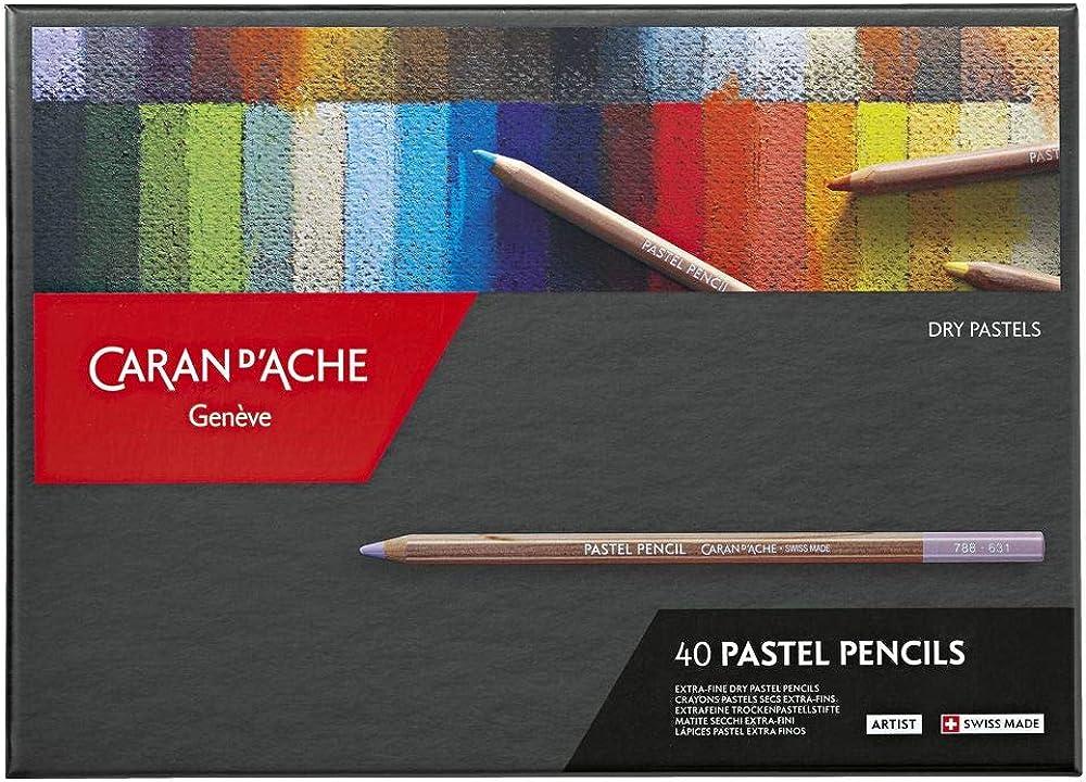 Dry 40 20 Sets of 12 Caran d/'Ache Pastel Pencils 76 Assorted Colours