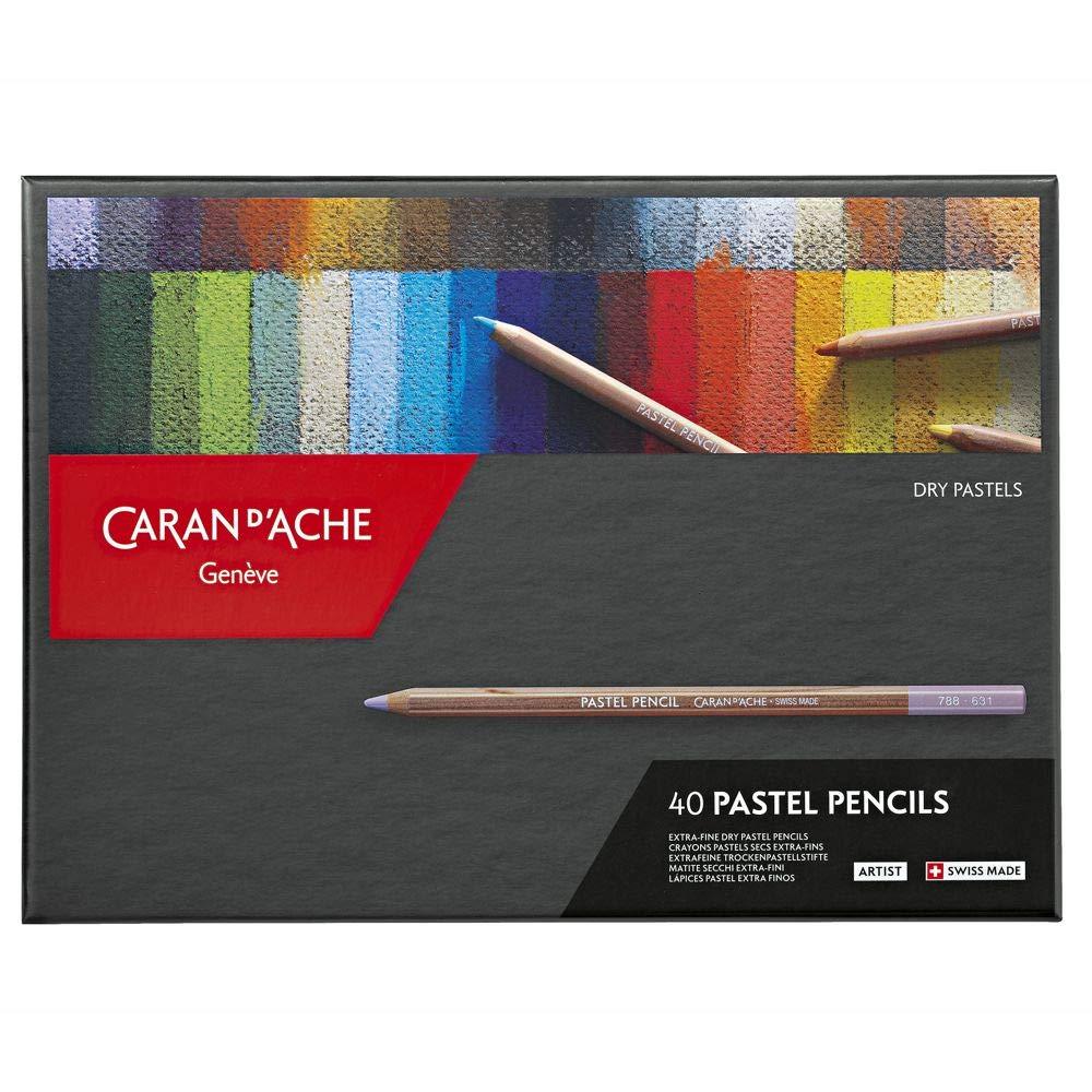 Caran D'ache Set of 40 Pastel Pencils (788.340) by Caran d'Ache
