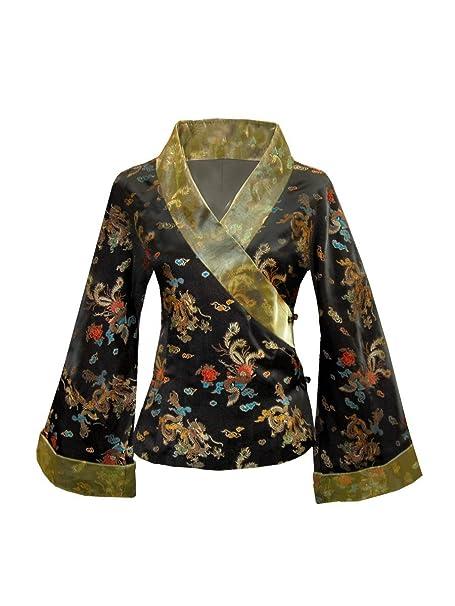 Amazon.com: Chaqueta japonesa estilo Kimono Dragon y Phoenix ...