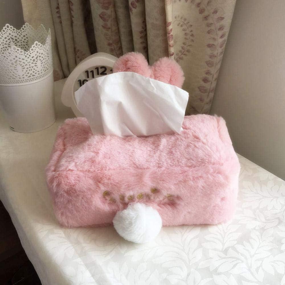 porte-papier en forme de bo/îte /à mouchoirs en papier pour lapin rose mignon ATpart Bo/îte /à mouchoirs