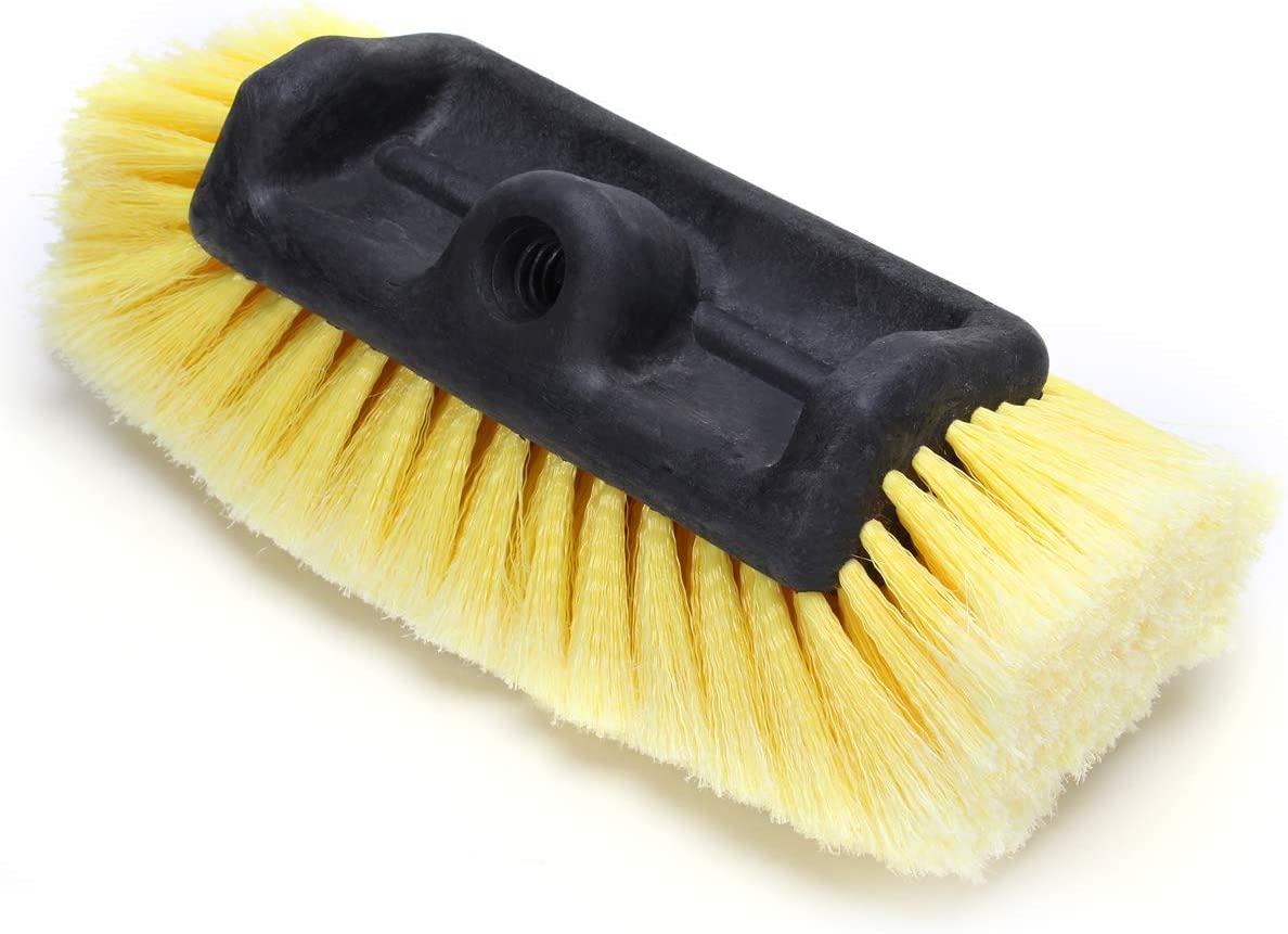 """12"""" Car Wash Brush with Soft Bristle Scrub Brush for Car Truck Boat RV House Siding Deck Camper Exterior Washing Cleaning Yellow"""